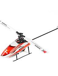 XK Hélicoptère RC 6Canaux 6 Axes 2.4G - Orange Fibre de Carbone