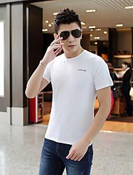 Sommer Männer&# 39; s Kurzarm-T-Shirt des dünnen koreanischen Art und Weise beiläufigen Rundhals einfache Baumwoll-T-Shirt Hemd