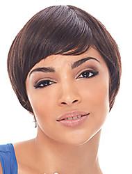 bangs parciais curtas etérea peruca natural sintético