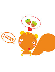 Wall Stickers Wall Decals Style Lovely Squirrel Switch PVC Wall Stickers
