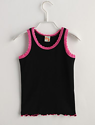 Girl Casual/Daily Solid Tank & Cami,Cotton Summer Short Sleeve