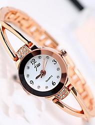 Women's Fashion Watch Quartz Alloy Band Casual Silver Gold