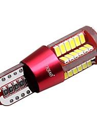 ziqiao 1 pc LED t10 super luminoso w5w 57smd luci di posizione bulbo lampade 12 v