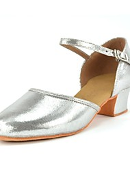 Kids' Dance Shoes Latin shoes Silver PU leather L40