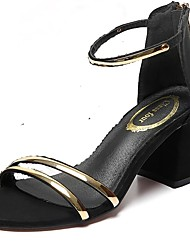 Women's Sandals Summer with High Heels for Women's Shoes in The Joker Ms Word Buckle Thick with Fashion Sandals