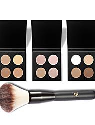 4 Colors Eyeshadow Shimmer Matte Highlighter Waterproof Anti-perspiration Eye Shadow Makeup Eyeshadow