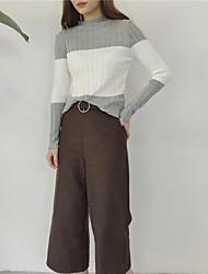 корейский цвет с высоким воротником заклинание с длинными рукавами свитер пассивом дикий тонкий свитер хеджирование реальный выстрел