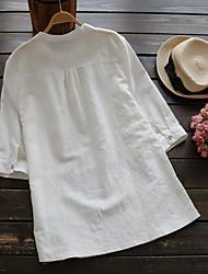 Feminino Malha Íntima Casual SimplesSólido Algodão Colarinho de Camisa Manga Longa