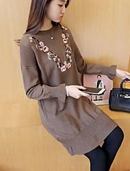 sign # 4171 2016 versão coreana do novo camisola bordado queda