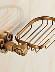 Mordern Horn Style Solid Brass  Bathroom Shelf Bathroom Soap Basket Bathroom Accessories
