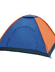 2 Pessoas Tenda Único Barracas para Acampamento Família Um Quarto Barraca de acampamento PoliésterProva de Água Respirabilidade Á