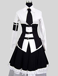 Outfits Gothic Lolita Vintage Inspired Cosplay Lolita Dress Solid Long Sleeve Long Length Shirt Skirt Collar For Cotton