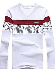 2017 ressort t-shirt hommes manches longues t-shirt mince t-shirt adolescent mâle occasionnel