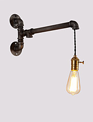 Vintage Industrial Pipe Wall Lights With switch Creative Lights Restaurant Cafe Bar Decoration lighting With 1 Light Painted Finish