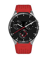 Smart Watch Quartz Silicone Band Black Red