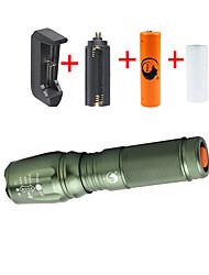 Beleuchtung LED Taschenlampen Taschenlampen Sets LED 2000 Lumen 5 Modus Cree XM-L T6 18650 26650 einstellbarer FokusCamping / Wandern /