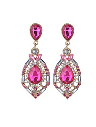 Drop Earrings Euramerican Fashion Acrylic Rhinestone Chrome Teardrop Jewelry For Party
