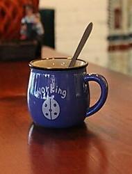 Мультяшная тематика Вечеринка Стаканы, 350 ml Простой геометрический узор Украшение Керамика Чайный Сок Каждодневные чашки / стаканы