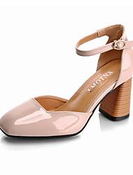 scarpe tacco del club similpelle ufficio all'aperto&carriera tacco grosso casuale fibbia a piedi