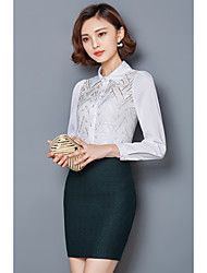 2017 new Korean temperament ladies lace long-sleeved shirt