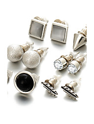 Opal Rhinestone AAA Cubic Zirconia Stud Earrings Jewelry Wedding Party Halloween Daily Casual Sports Alloy Cubic Zirconia Opal 1setAs Per