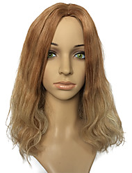 Hot Sale Capless Mid-Part Wig Golden Blonde Natural Wavy Party Wig Hairstyle With Wigs Cap