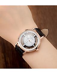 Masculino Relógio Esportivo / Quartzo Couro Banda Vintage Preta Branco Marrom