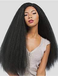 Long Length Kinky Straight Lace Wigs Remy Hair Lace Front Wigs