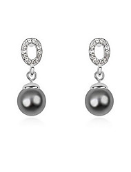 Stud Earrings Pearl Pearl Alloy Natural Jewelry White Gray Copper Jewelry Daily 1 pair
