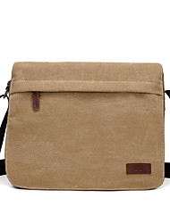 Unisex Bags All Seasons Canvas Shoulder Bag with for Casual Sports Formal Outdoor Office & Career Brown Black Khaki