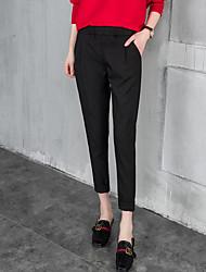 firmar la primavera y el verano de sección delgada pantalones harén femenino pies pantimedias pantalones pantalones casuales pantalones