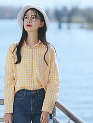 знак не менее 58 свойств редактировать свои собственные с длинными рукавами, клетчатую рубашку студенток корейских Вентилятор свободно