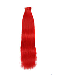 20PCS Tape In Hair Extensions Red 40g 16Inch 20Inch 100% Human Hair For Women