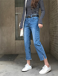 2017 знак минималистский дикие брюки полоснул джинсы женские ноги вышитые бахромой