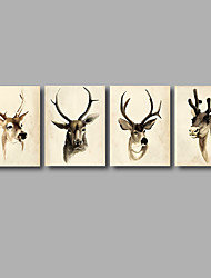 Stretched Canvas Print Painting Four Panels Canvas Wall Decor Home Decoration Abstract Modern Dear Animals