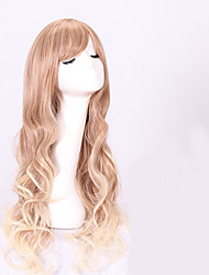 2016 New Arrival Synthetic Wigs Long Wave Blonde Color Women's Wig Synthetic Wigs