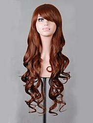Charming Lolita Light Blue 80CM Long Wavy Wig High Temperatre Fiber Women's Party  Cosplay Wig
