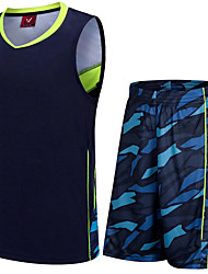 Men's Soccer Tracksuit Breathable Spring Summer Fall/Autumn Winter Polyester Racing Leisure Sports Football/Soccer Running Blue