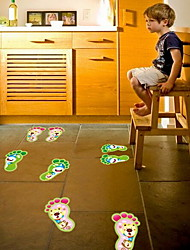 Feet Shape Luminous Wall Sticker Vinyl Material Home Decoration
