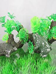 Оформление аквариума Орнаменты Нетоксично и без вкуса Смола Зеленый