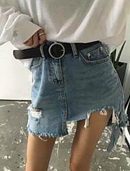 новый ретро порванные края отверстия бахромой юбки