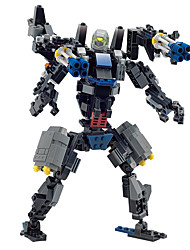 Toys For Gift  Building Blocks Dinosaur Warrior Robot Plastic 5 to 7 Years 8 to 13 Years 14 Years & Up Black Toys