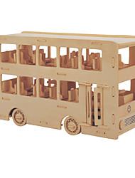 Пазлы Набор для творчества Конструкторы 3D пазлы Обучающая игрушка Пазлы Деревянные пазлы Строительные блоки Игрушки своими руками Автобус