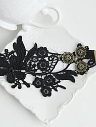 Bracelet de cheville/Bracelet Forme de Fleur Vintage Hip-Hop Pierre Dentelle Noir Aux femmes Bijoux 1pc