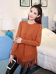 подписать весной моделей корейской версии был тонкий рыхлый длинный свитер пиллинг свитер моды кисточкой женский
