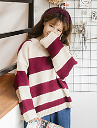 Real shot! The new set of head loose striped sweater