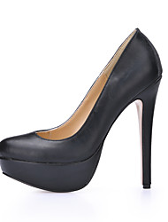 Women's Heels Spring Fall Comfort PU Office & Career Party & Evening Dress Casual Stiletto Heel Black
