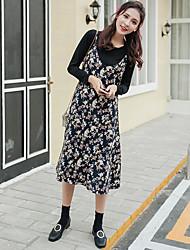 подписать сезоны ультра-дикий цветочные подтяжки кусок платье + T Сю