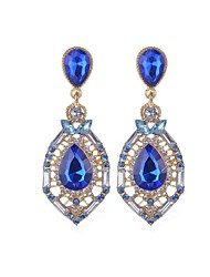Crystal Drop Earrings Jewelry Party Daily Casual Crystal Alloy 1 pair Multi Color