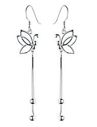925 Sterling Silver Earrings AAA Zircon Butterfly Long Drop Earrings Jewelry
